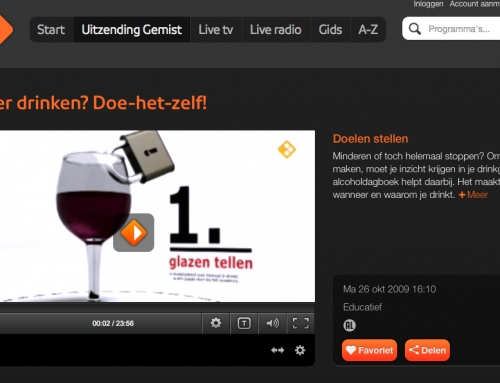 TV-serie 'Minder drinken'