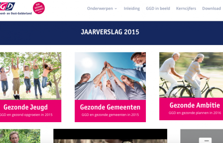 Screenshot GGD Jaarverslag 2015